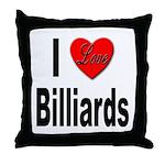 I Love Billiards Throw Pillow