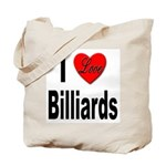 I Love Billiards Tote Bag