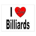 I Love Billiards Small Poster