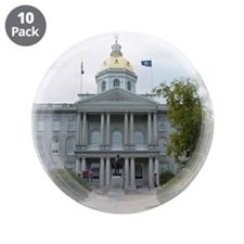 """Concord NH State House 3.5"""" Button (10 pack)"""
