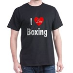 I Love Boxing (Front) Dark T-Shirt