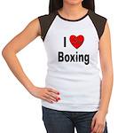 I Love Boxing (Front) Women's Cap Sleeve T-Shirt