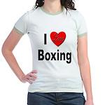 I Love Boxing (Front) Jr. Ringer T-Shirt