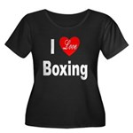 I Love Boxing (Front) Women's Plus Size Scoop Neck