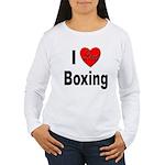 I Love Boxing Women's Long Sleeve T-Shirt