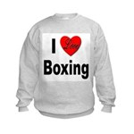 I Love Boxing Kids Sweatshirt