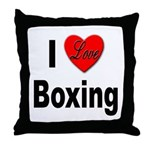 I Love Boxing Throw Pillow