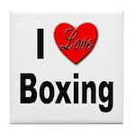 I Love Boxing Tile Coaster