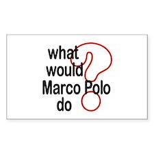 Marco Polo Rectangle Decal
