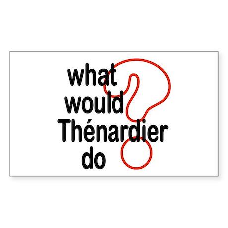 Thénardier Rectangle Sticker