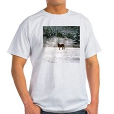 Horse in snow T-Shirt