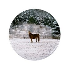"""Horse in snow 3.5"""" Button (100 pack)"""