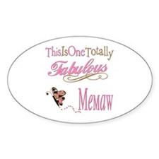 Fabulous Memaw Oval Decal