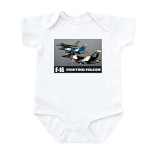 F-16 Falcon Fighter Infant Bodysuit