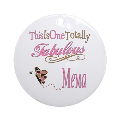Fabulous Mema Ornament (Round)