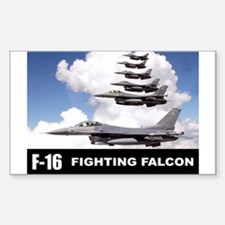 F-16 Falcon Fighter Rectangle Decal