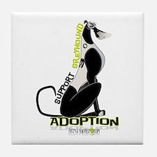 Support Greyhound Adoption Tile Coaster