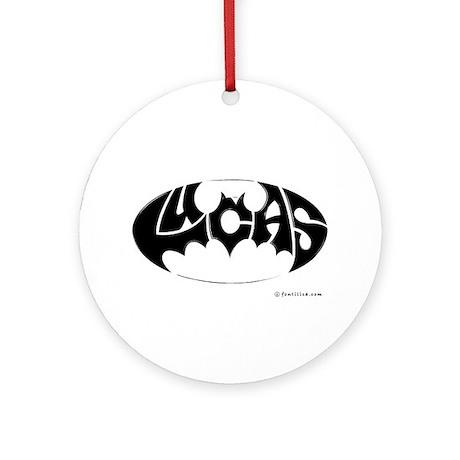 Lucas (Black Bat) Ornament (Round)