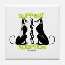 Support Greyhound Adoption Tile Coaster