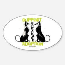 Support Greyhound Adoption Oval Decal