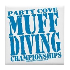 Party Cove Muff Diving Championships Tile Coaster