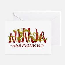 Dragon Ninja Harmonicist Greeting Cards (Pk of 10)