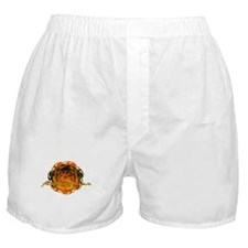 Firefighter with Round Flame Boxer Shorts