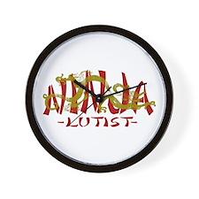 Dragon Ninja Lutist Wall Clock