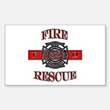 Fire Rescue Rectangle Decal