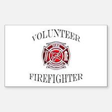 Volunteer Firefighter Rectangle Decal