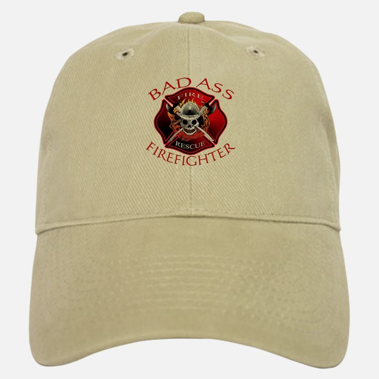 Bad Ass Firefighter Baseball Baseball Cap
