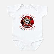 Bad Ass Firefighter Infant Bodysuit