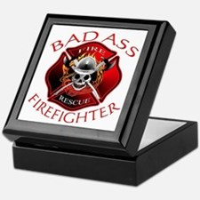 Bad Ass Firefighter Keepsake Box