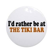 Tiki Bar Ornament (Round)