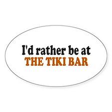 Tiki Bar Oval Decal