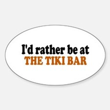 Tiki Bar Oval Decal