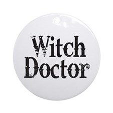 Witch Doctor Ornament (Round)
