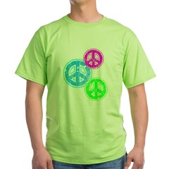 Glowing colorful Peace Signs T-Shirt