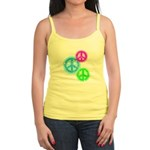 Glowing colorful Peace Signs Jr. Spaghetti Tank