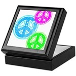 Glowing colorful Peace Signs Keepsake Box