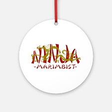 Dragon Ninja Marimbist Ornament (Round)