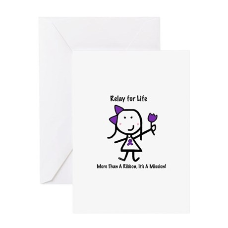 Purple Ribbon - Relay for Life Greeting Card
