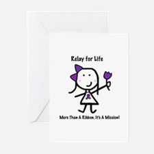 Purple Ribbon - Relay for Life Greeting Cards (Pk