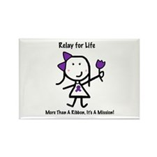 Purple Ribbon - Relay for Life Rectangle Magnet