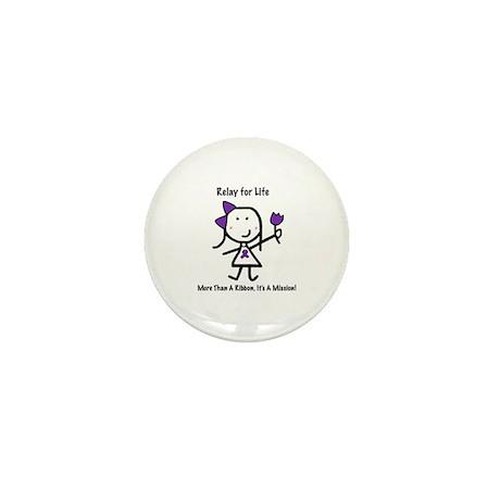 Purple Ribbon - Relay for Life Mini Button (100 pa