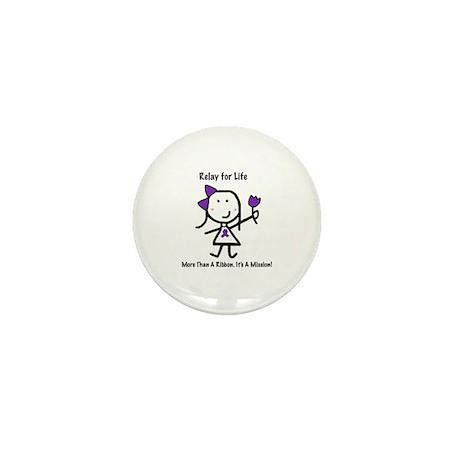 Purple Ribbon - Relay for Life Mini Button