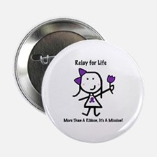 """Purple Ribbon - Relay for Life 2.25"""" Button (100 p"""