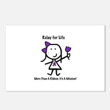 Purple Ribbon - Relay for Life Postcards (Package