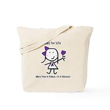 Purple Ribbon - Relay for Life Tote Bag