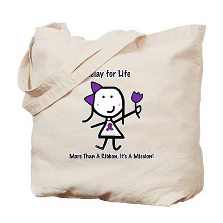 Purple Ribbon - Relay for Life Tote Bag